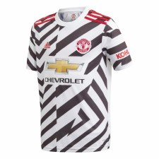 Adidas Man Utd  Away 3rd Jersey 2020/21 Kids (White Black) 7-8