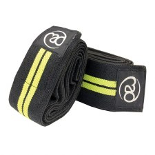 Fitness Mad Knee Support Wraps (Black Yellow)