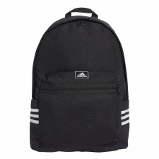 Adidas Classic 3 Stripe Backpack (Black White)