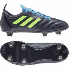 Adidas Malice Junior Soft Ground (Navy Lime Blue) 3