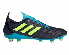 Adidas Malice Soft Ground Boots (Navy Lime Blue) 7