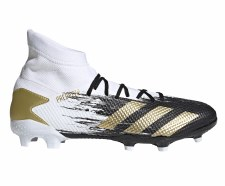Adidas Predator 20.3 Firm Ground (White Black Gold) 10