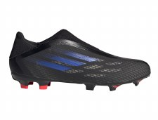 Adidas X Speedflow.3 Laceless Firm Ground (Core Black Sonic Ink Solar Yellow) 6