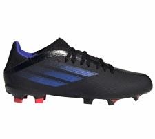 Adidas X Speedflow .3 Firm Ground Junior (Black Blue) 3.5