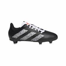 Adidas Rugby Junior Soft Ground (Black White) 2