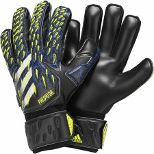 Adidas Predator Fingersaver Goalkeeper Gloves (Black Royal Flo Yellow) 7