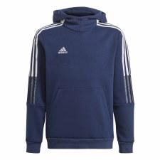 Adidas Tiro 21 SW Junior Hoody (Navy White Grey) 7-8