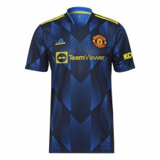 Adidas MUFC 3 Away Jersey 21/22 (Glow Blue) XL