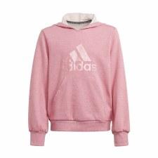 Adidas Future Icons Girls Logo Hoodie (Pink) 9-10