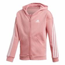 Adidas 3S Full Zip Girls Hoodie (Pink White) 14-15