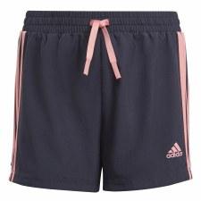 Adidas Design 2 Move 3 Stripe Shorts (Navy Pink) 5-6