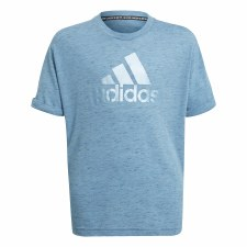 Adidas Future Icons Girls Tee (Blue Haze) 5-6