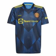 Adidas MUFC 3 Away Jersey 21/22 Junior (Glow Blue) 7-8