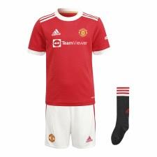 Adidas MUFC Home Mini Kit 21/22 (Red White Black) 18-24