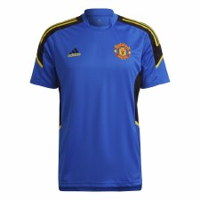 Adidas MUFC EU Training Jersey 21/22 (Blue Black Yellow) XS