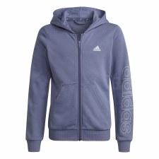 Adidas Linear Girls Full Zip Hoody (Violet Blue) 7-8