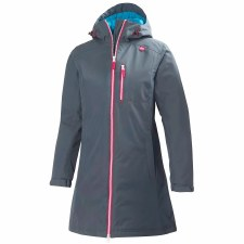 Helly Hansen Womens Long Belfast Winter Jacket (Grey Pink) Small