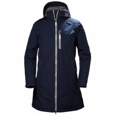 Helly Hansen Womens Long Belfast Winter Jacket Navy White Medium