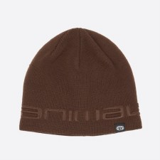 Animal Agas Knitted Mens Beanie (Coffee)