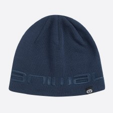 Animal Agas Knitted Mens Beanie (Indigo Blue)