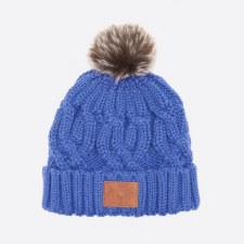Animal Cana Knitted Ladies Bobble Beanie (Amparo Blue)