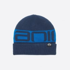 Animal Angeloe Reversible Boys Beanie (Navy Blue/Red Navy)
