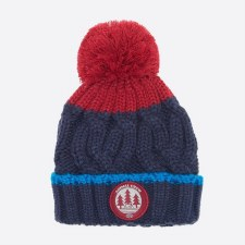 Animal Galie Knitted Boys Beanie (Indigo Blue Red)