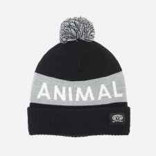 Animal Tibor Knitted Kids Beanie (Black Grey)