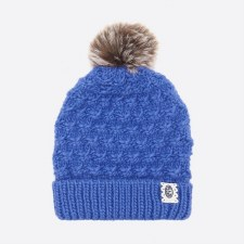 Animal Monroe Knitted Girls Beanie (Amparo Blue)
