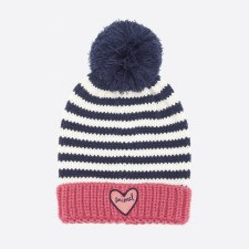 Animal Gretel Knitted Girls Beanie (Slate Rose Pink)