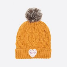 Animal Gretel Knitted Girls Beanie (Golden Glow Yellow)