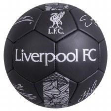 Liverpool Phantom Signature Ball (Black Silver) Size 5