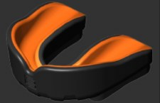 Makura Ignis Gel Mouthguard SNR (Black/Orange)