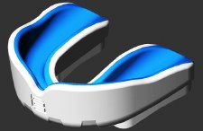 Makura Ignis Gel Mouthguard SNR (Royal/White)