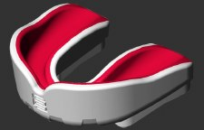Makura Ignis Gel Mouthguard SNR (Red/White)