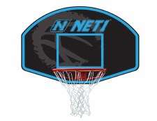 NET1 Basketball Hoop & Backboard Youth (Black Blue)