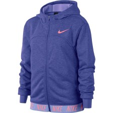 Nike Girls Dry Studio Full Zip Hoody Purple MB
