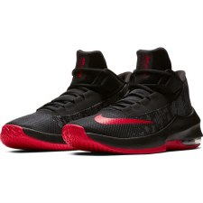 Nike Air Max Infuriate 2 Mid Basketball Shoes (Black Red) 7