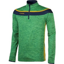 O Neills Slaney 3 Stripe Half Zip (Melange Green Navy Amber) 5-6