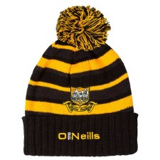 O'Neills Ballyea Bobble Hat Black and Amber OSFA