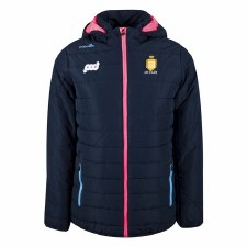 O'Neills Clare Ladies Solar  Full Zip Padded Fleece Jacket (Navy Pink Blue) Age 5-6