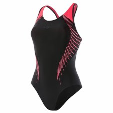 Speedo Fit Laneback Swimsuit (Black Coral) 34