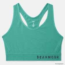 Under Armour Mid Keyhole Bra (Green) Small