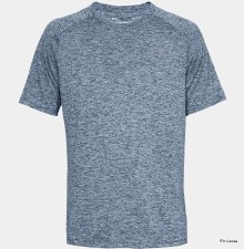 Under Armour Tech Short Sleeve Tee Mens (Navy Melange) Small