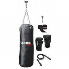 Urban Fight Punch Bag Kit (Black)