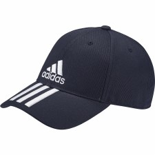 Adidas Six Panel Classic 3 Stripe Cap Adults (Navy White)
