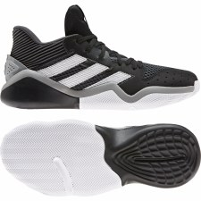Adidas Harden Stepback Basketball Shoes (Black White Grey) 7