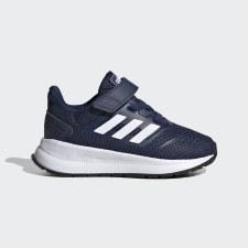 Adidas Run Falcon Infants Running Shoe (Navy White) 6