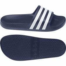 Adidas Adilette Aqua Slides (Navy White) 10