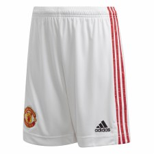 Adidas Manchester Utd Home Short Junior 2020/21 (White Red) 11-12